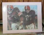 Vintage 1960's David Boss Poster Of The Cleveland Browns Matted Shrink Wrapped