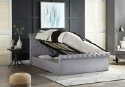 Ottoman Bed Frame Side Lift Up Storage Upholstered With Mattress 4ft Double King