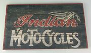 Indian Motorcycles Sign - Vintage Style Distressed Wood