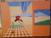 Barbara Gothard Original Signed Oil Painting 1995 Surreal Style Palm Springs