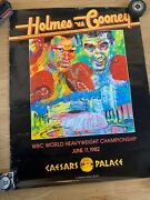 Leroy Neiman Signed Gerry Cooney 1982 Fight Poster W/angelo Dundee Jsa