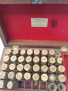 Rare Antique New Orleans T. Engelbach Homeopathic Pharmacy Wooden Chest Bottles
