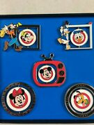 Pin 91577 Disney- Le 500 Mickey Mouse Club Spinner Pin Set - 5 Pc Set Very Rare