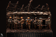 British Infantry In Trench Ww1 Painted Toy Soldier Pre-sale | Art Quality