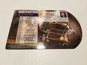 Baltimore Ravens 2012 Nfl Football Magnet Schedule - Advance Realty