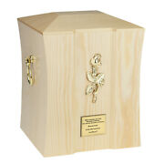 Cremation Urn For Adult Made From Wood Funeral Ashes Casket Human Memorial Urn