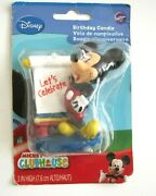 Disney Mickey Mouse Clubhouse Let's Celebrate Wilton Birthday Candle Cake Topper