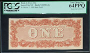 Nqc Bank Of Jersey City 1 1856 Back Proof Extremely Rare Proof And Only 2 Known