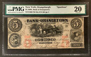 Nqc Bank Of Orangeburgh 5 1860s Andldquospuriousandrdquo Extremely Rare And Only 1 Known