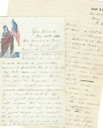 Ct 7th Civil War Soldier Writes Fremont Removed North Driving Rebels--2 Letters