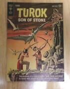 Turok Son Of Stone 30 Solid Fn+ Sharp 1st Gold Key Book 1962 Painted Cover
