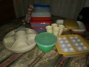 Vintage 23 Pc Lot Tupperware Bowls Containers Lids Cups Egg Holder + More