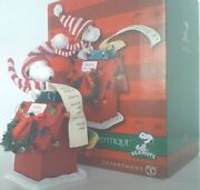 Peanuts Snoopy Literary Ace Dept 56 Christmas Figurine New In Box