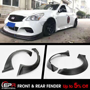 For Infiniti G37 4door Tp Style Frp Front And Rear Widebody Fender Flares 6pcs
