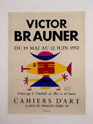 Victor Brauner Exhibition Poster Stenciled With Gouache Hand Signed