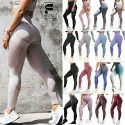 Womens Seamless Yoga Leggings Pants Push Up Fitness Stretch Workout Athletic O21