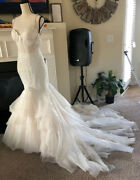 Winnie Couture Beverly Hills Bead Wedding Gown Sz Small