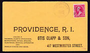 🔥 1895 Otis Clapp And Son Advertising Cover With 2 Cent Washington + Backstamp