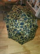 Rare Vintage Umbrella 52 Beer Collectible Budweiser Camoflage Promotional