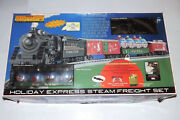 Mth Rail King 2000 Holiday Express Steam Fright Train Set 2-8-0 Wireless Remote
