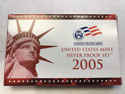 2005 S Us Mint Silver Proof 11 Coin Set Coa.