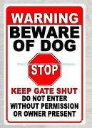 Old Signs For Sale Warning Beware Of Dog Stop Keep Gate Shut Metal Tin Sign