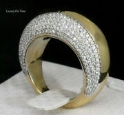 Ladies Amazing Hand Made Solid 14k Yellow Gold 1.75 Carat Diamonds Cocktail Ring