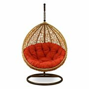 Hanging Swing Chair With Cushion And Hook Outdoor Garden Indoor Balcony Beach