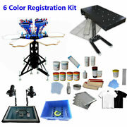 Techtongda 6 Color 6 Station Screen Printing Kit Flash Dryer Set Easy To Operate