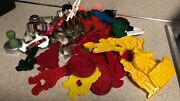 Lot Of 67 Vintage Plastic And Metal Cookie Cutters