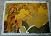 Marie Macpherson Signed Lithograph Of Man Titled Blond Satyr