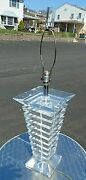 Lucite Floor Lamp Table Signed Marlee Geometric Vintage 1970and039s
