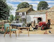 3d Farmhouse Dog G27 Wallpaper Mural Self-adhesive Removable Trevor Mitchell Amy