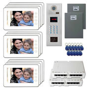 New Building Door Security Video Intercom System Kit With 11 7 Color Monitors