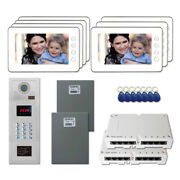 Home Entry Door Security Video Intercom System Kit With 7 7 Color Monitors