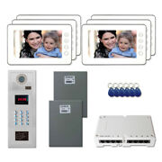 Building Access Door Entry Video Intercom System Kit With 6 7 Color Monitors