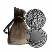 Bigfoot Sasquatch Believe 1/2 Oz .999 Silver Usa Made Round With Magnet/gift Bag