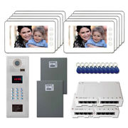 Home Access Security Panel Video Intercom System Kit With 10 7 Color Monitors