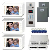 Building Unit Door Security Video Intercom System Kit With 9 7 Color Monitors