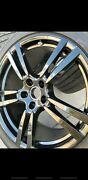 21 Porsche Cayenne Turbo Oem Forged By Bbs Gloss Black Wheels W/ Tires