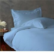 800 Tc Egyptian Cotton Bedding Collection All Sets Available In Sky Blue Color