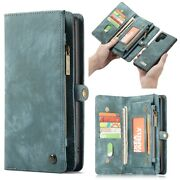 For Samsung Note 10 Plus/10 Leather Removable Flip Wallet Card Zipper Case Cover