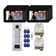 Multi Tenant 2 Wire Mt Series Video Intercom System Kit With 8 7 Color Monitors