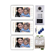7 Lcd Monitor Wired Video Door Phone Doorbell Security Home Intercom System Kit