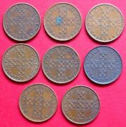 Portugal Set Of Eight Vintage 50 Centavos Coins 1972 - 1979 All In Good Grades