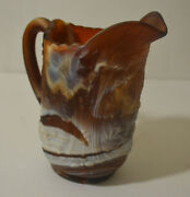 Imperial Glass Brown Slag Windmill Pitcher Matte Finish