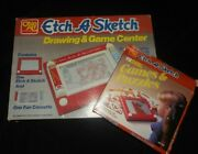 Vintage Ohio Art Etch A Sketch Drawing Game Center Toy And Bonus Games And Puzzles