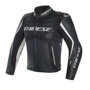 New Dainese Misano D-air Perforated Jacket Menand039s Eu 50 Black/white 1d2001694850