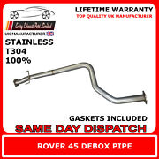 Rover 45 Center Silencer Debox / Deres Pipe - 2.5 Made From Stainless Steel