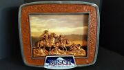 Vintage Anheuser Busch Beer Cowboys Riding Horses Not A Lighted Sign No Lights